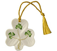 Belleek Shamrock Ornament - H298292