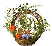 National Tree Company 16 Spring Ring Basket - H300492