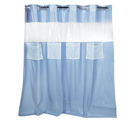 Hookless Vision Vinyl Shower Curtain With 4 Mesh Pockets Page 1