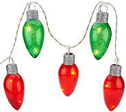 4 Illuminated Vintage Bulb Plug-in Garland by Valerie - H205293
