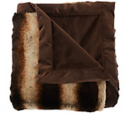 Dennis Basso 50x60 Platinum Posh Faux Fur Throw - H206893