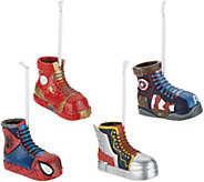 Hallmark Set of 4 Superhero Sneaker Ornaments - H212193