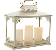 Oversized Lantern with 3 Removable Pillar Candles by Valerie - H214793