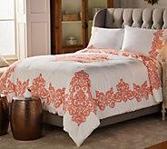Casa Zeta-Jones Vintage Lace Printed Cotton Queen Comforter Set - H215393