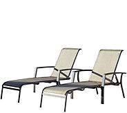Cosco Serene Ridge Set of 2 Aluminum Chaise Lounges - H289093