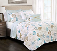 Harbor Life Blue/Taupe 7-Piece King Quilt Set by Lush Decor - H295993