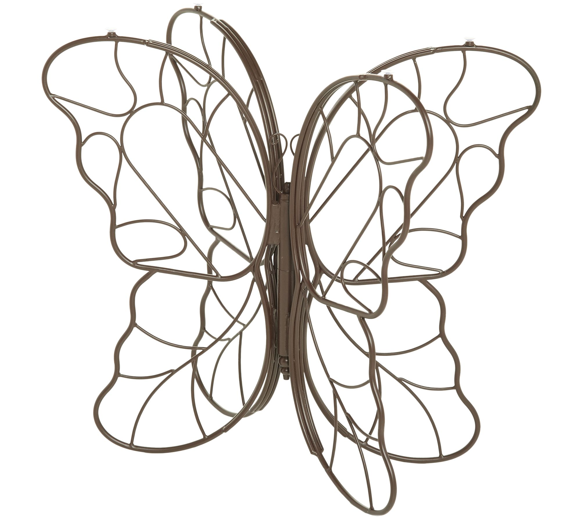 4021292c3a01 Indoor Outdoor Iron and Glass Butterfly Console Table by Valerie - Page 1 —  QVC.com