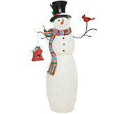 Indoor/Outdoor Oversized Snowman with Hat and Scarf by Valerie - H216294