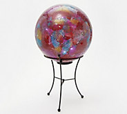 Indoor/Outdoor 12 Illuminated Mosaic Sphere with Stand by Valerie - H217994