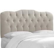 Skyline Furniture Cal. King Tufted Headboard inVelvet - H284694