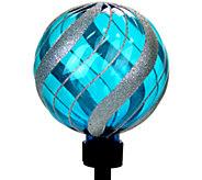 Exhart Solar Medium Glitter Orb Garden Stake - H285594