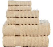 Elegance Spa 6-Piece Cotton Ribbed Towel Set - H294894