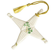Belleek St. Brigids Cross Ornament - H298294