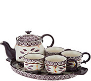 Temp-tations Old World 6-pc Tea Set w/Deep Dish Lid It - H202695