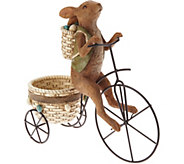 Bunny Riding Tricycle w/ Basket Figure by Valerie - H213695