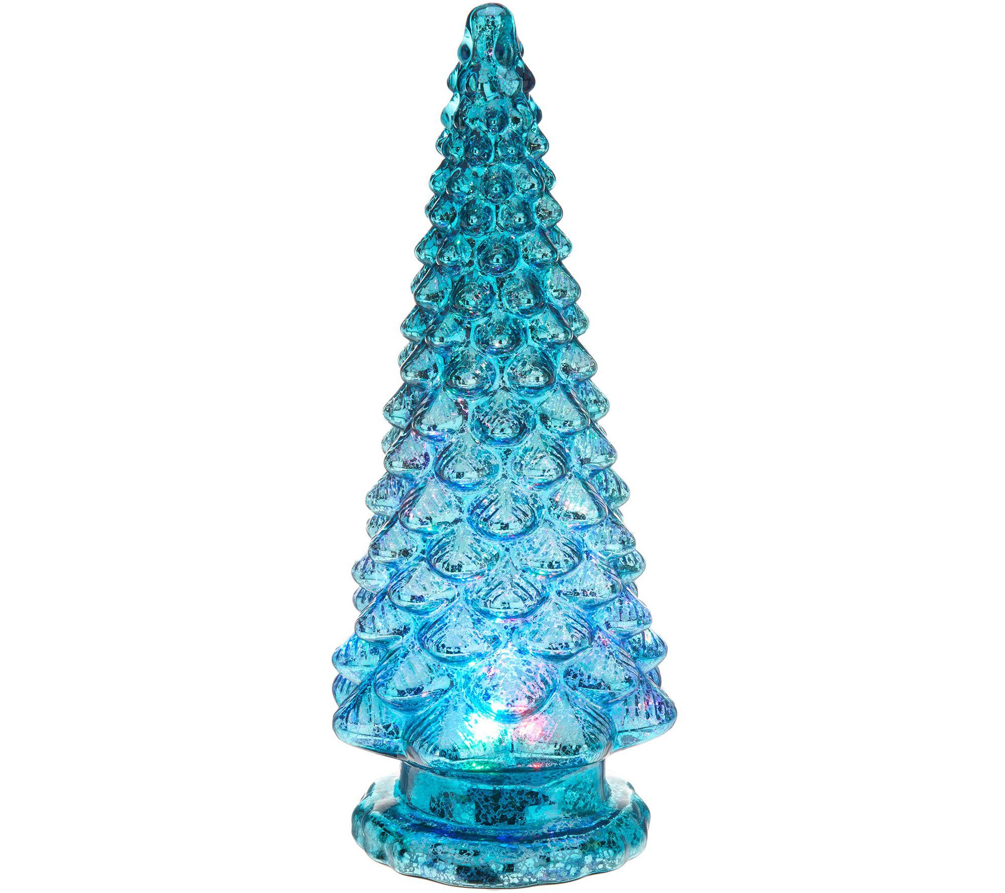 Mercury Glass Kaleidoscope Light Show 16 Tree By Valerie Page 1 Qvc Com