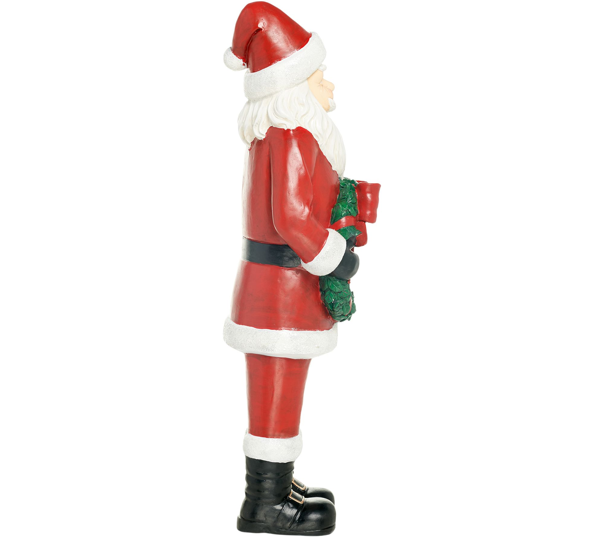 Indoor/Outdoor Oversized Santa with Holiday Wreath by Valerie — QVC.com
