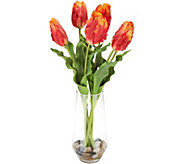 23 Real Touch Parrot Tulips in Water Illusion Vase by Valerie - H217895