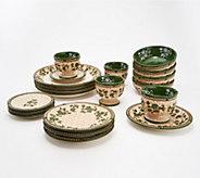 Temp-tations Floral Lace 20pc Basketweave Dinnerware Set - H218095