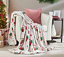 """Berkshire Blanket 60""""x80"""" Super Oversized Velvet Soft Holiday Throw"""
