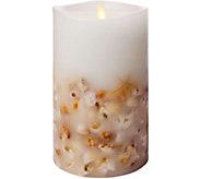 Luminara 7 Seashell Embedded Wax Flameless Candle - H292895