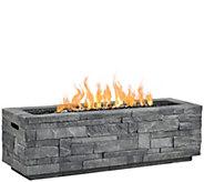 Real Flame Gray Ledgestone Rectangle Fire Table - H297495