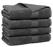 Casa Platino Cotton Zero-Twist Set of 4 Bath Towels - H297695