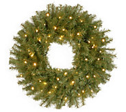 National Tree Company 24 Fir Prelit Wreath - H303295