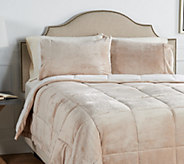 Berkshire King Velvet Soft Reverse to Sherpa Comforter Set - H212296