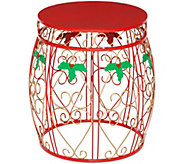 Plow & Hearth Indoor/Outdoor Holiday Drum Accent Table - H215896