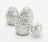Set of 3 Mosaic Cracked Eggs by Valerie - H218296