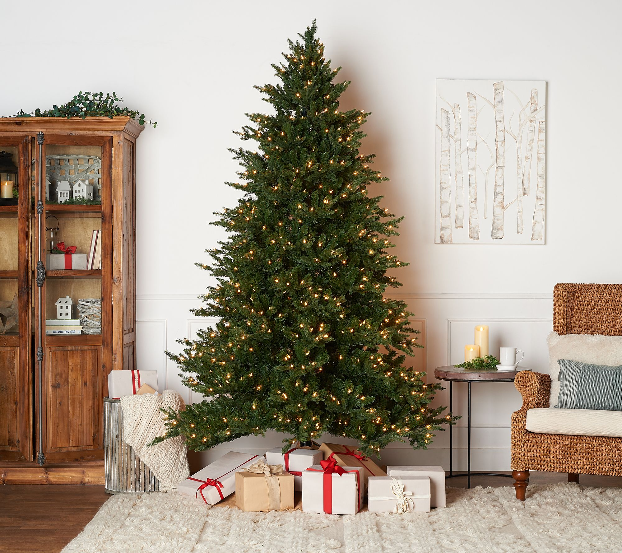 Qvc Christmas Trees.Bethlehem Lights 7 5 Incandescent Sequoia Christmas Tree Qvc Com
