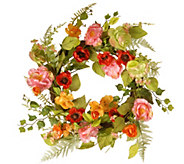 National Tree Company 22 Spring Flower Wreath - H300496