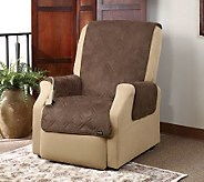 Sure Fit Quilted Suede Pet Throw Wing/ReclinerSlipcover - H349996