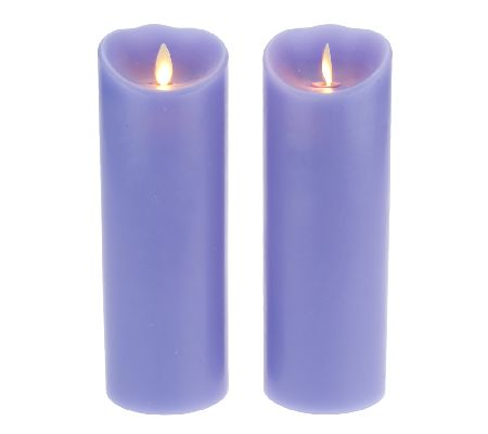 flameless candles with timer luminara set of 2 3x8 quot flameless candles with timers 28703