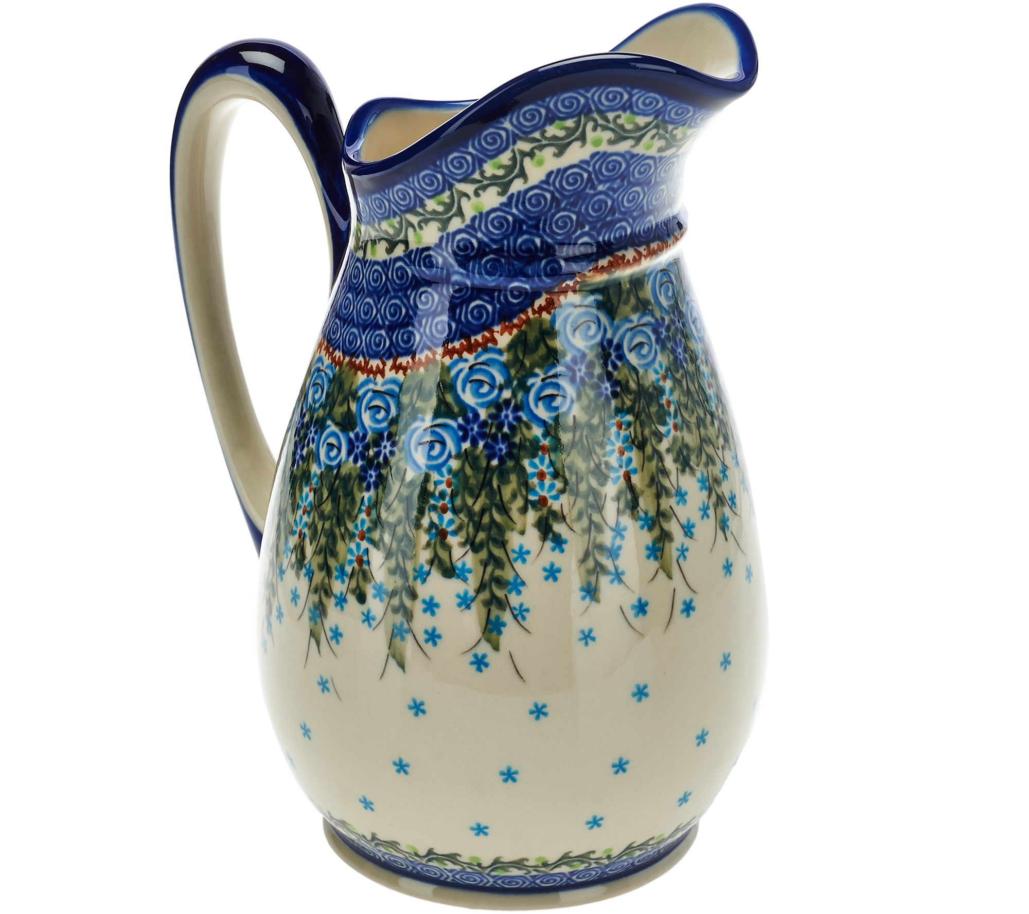 Lidia's Polish Pottery Stoneware Pitcher Olimp