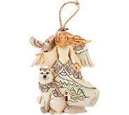 Jim Shore Heartwood Creek Woodland Angel with Husky Ornament - H211997