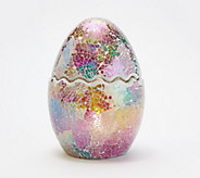 Illuminated 8 Mosaic Cracked Egg by Valerie - H218297