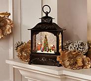 12 Illuminated Glitter Lantern with Holiday Scene by Valerie - H218997