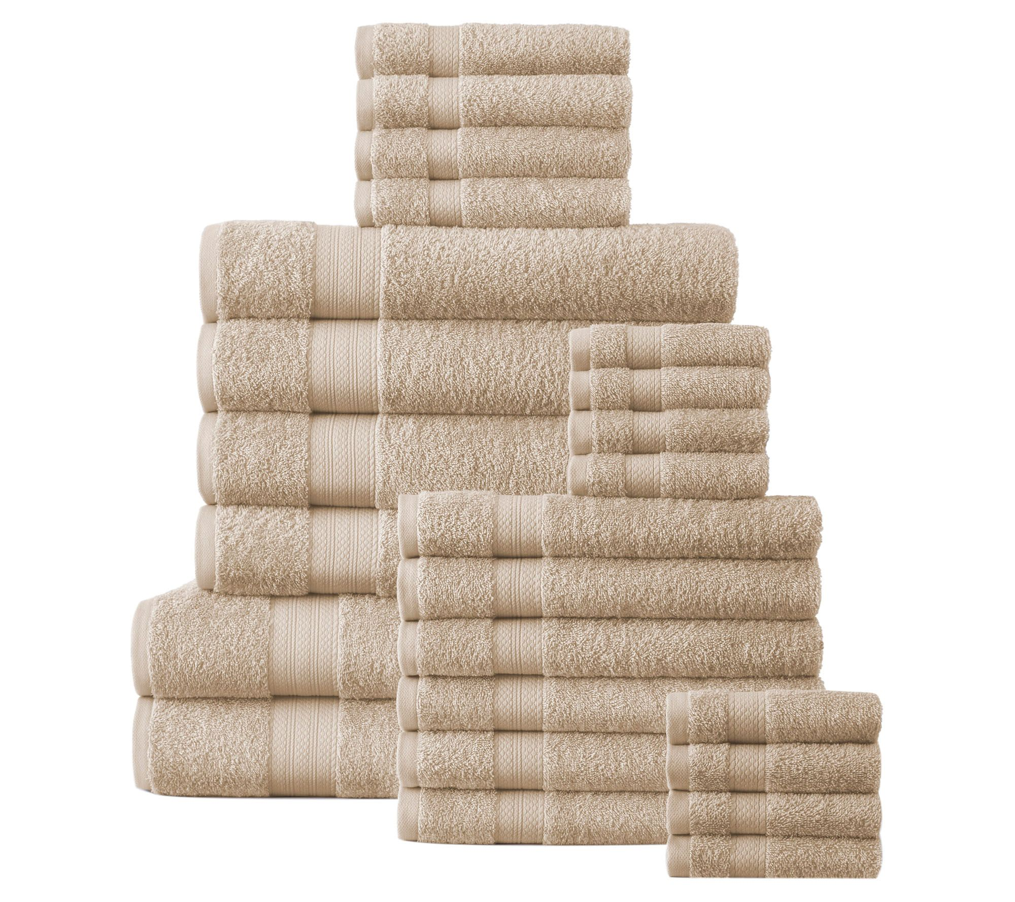 Affinity Linens Cotton Plush 24 Piece Bath Towel Set