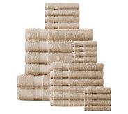 Affinity Linens Cotton Plush 24-Piece Bath Towel Set - H297697