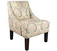 Skyline Furniture Latika Seafoam Swoop Arm Chair - H300897