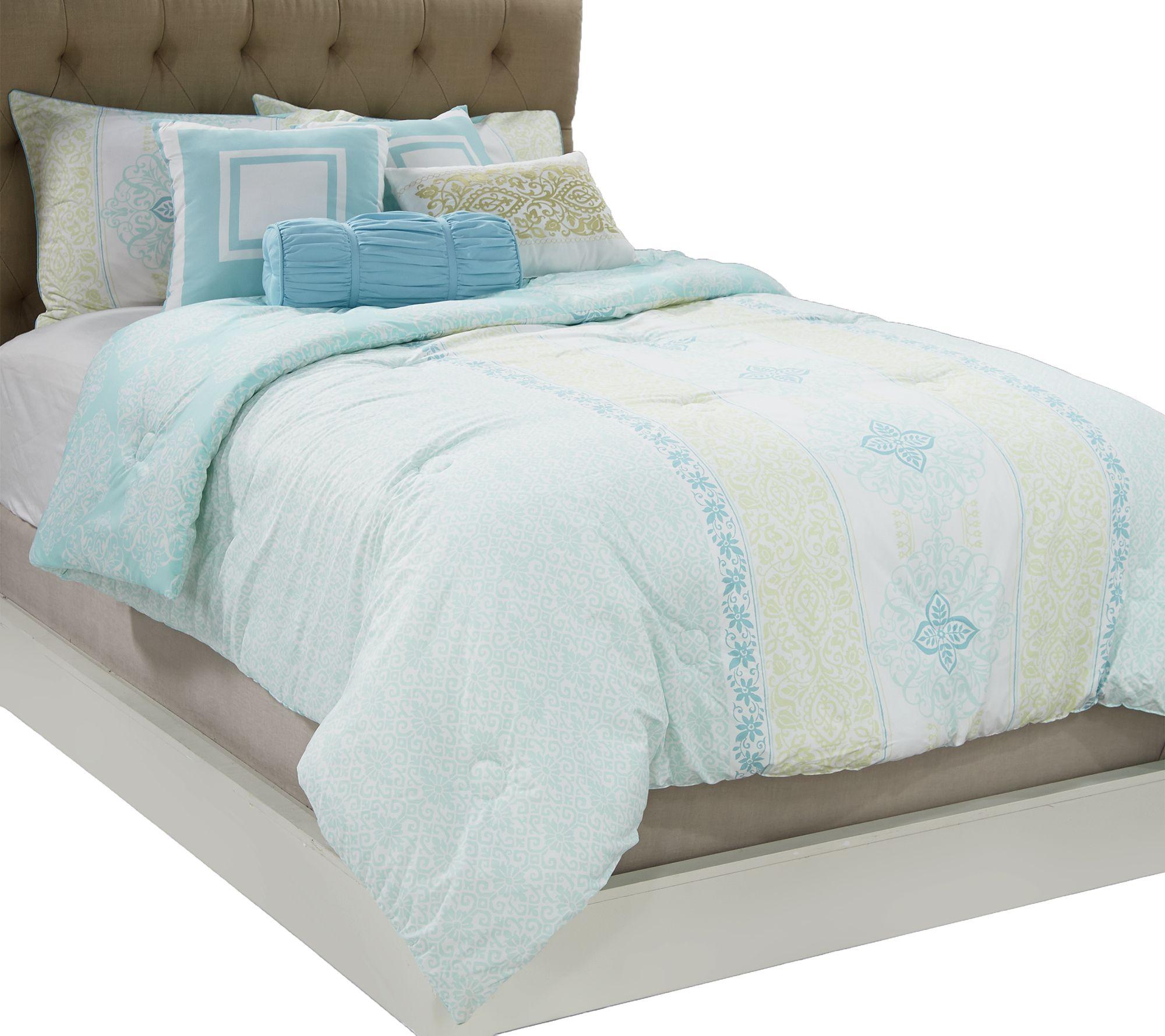 Home Reflections KG 7  Piece Medallion Comforter Set   Page 1 U2014 QVC.com