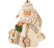 Jim Shore Heartwood Creek Woodland Santa with Baby Ornament - H211998