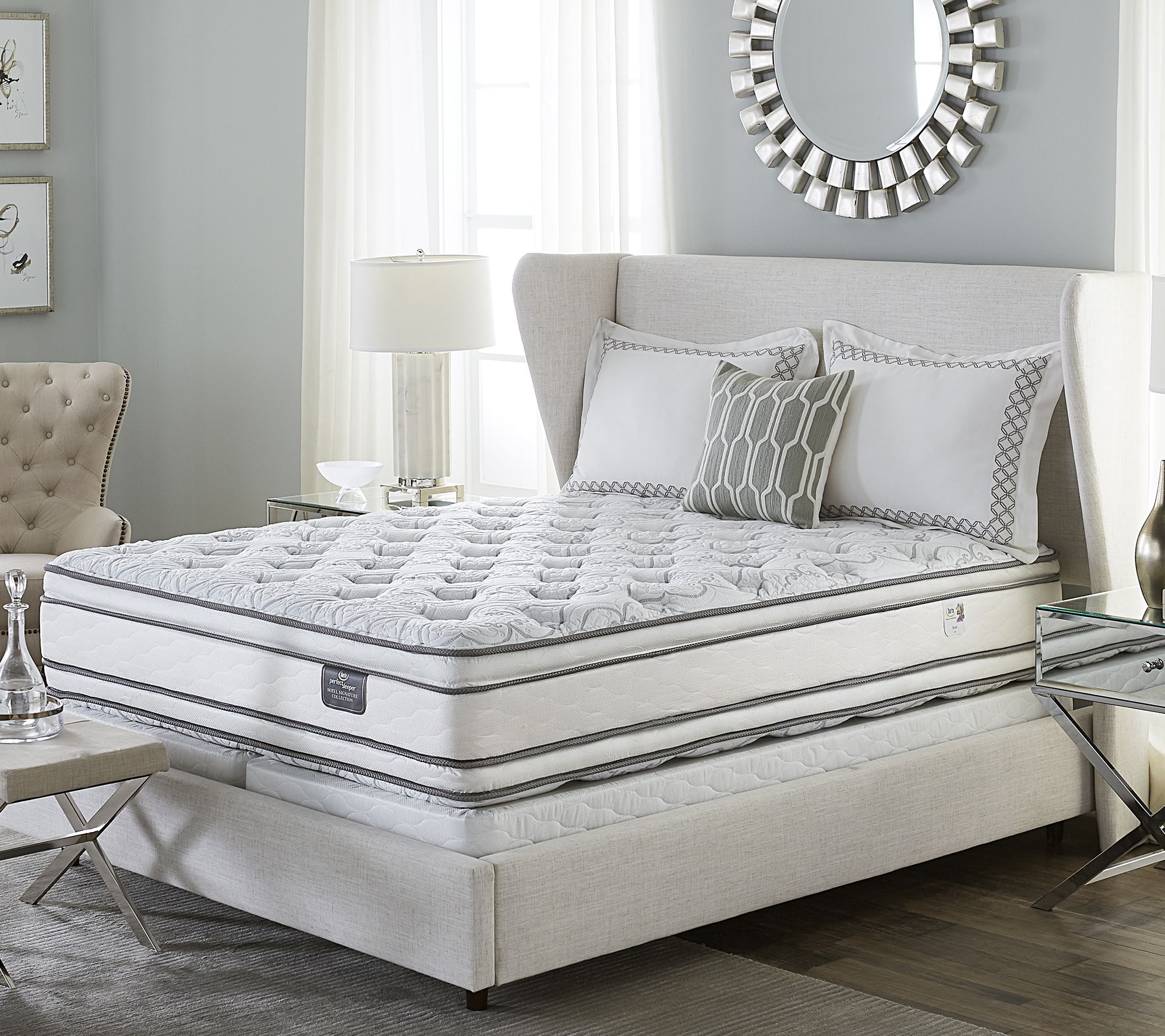 serta perfect sleeper hotel signature dual pillowtop sq matt set
