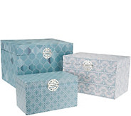 Set of 3 Decorative Storage Accent Boxes by Valerie - H214798