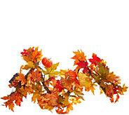 Bethlehem Lights Prelit Autumn Leaves Decorative 4 Garland - H215598