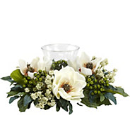 Magnolia Candelabrum Flower Arrangement by Nearly Natural - H295698
