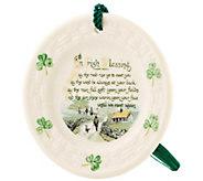Belleek Irish Blessing Plate Ornament - H298298