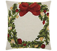 Mina Victory Hook Wreath Multicolor 18 x 18 Throw Pillow - H301598